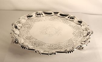 A George 11 antique silver salver