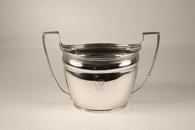 A silver sugar bowl - George 111.