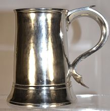 A George 111 antique silver mug