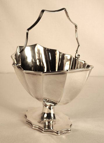 A George 111 antique silver sugar basket