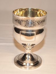 A silver goblet - George 111