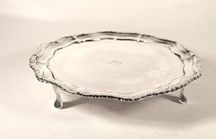 A George 111 antique silver salver