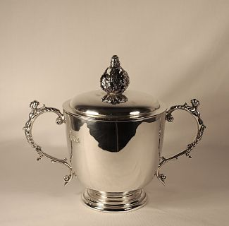 A silver cup (two-handled) - George V