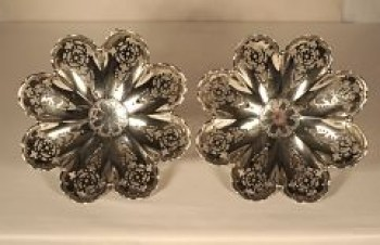 A Pair of Victorian silver bon bon dishes,