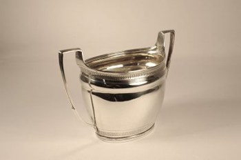 A George 111 silver twin handle sugar bowl