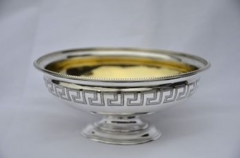A Victorian silver sweetmeat dish