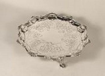 A George 111 small silver salver