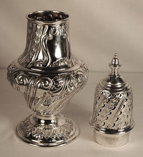 A Viictorian large silver sugar caster
