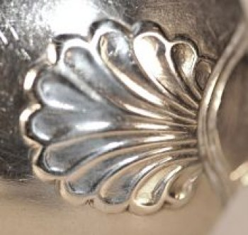 A George 111 hourglass pattern silver tablespoon
