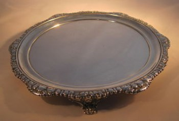 A George 1V antique silver salver