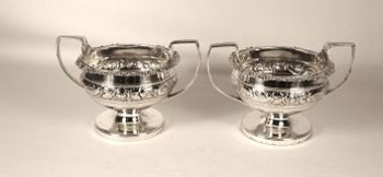 A pair of silver George 111 salts