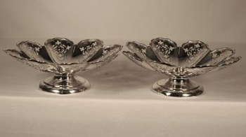 A Pair of Victorian hallmark silver bon bon dishes,