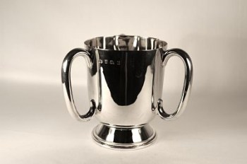 A silver cup (three-handled) - Edwardian