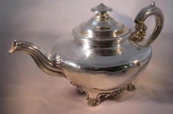 A William 1V silver teapot