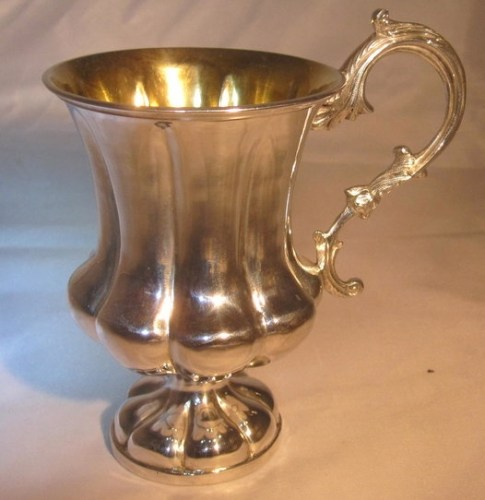 A William IV silver Christening mug