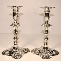 Antique silver candlesticks to grace your table