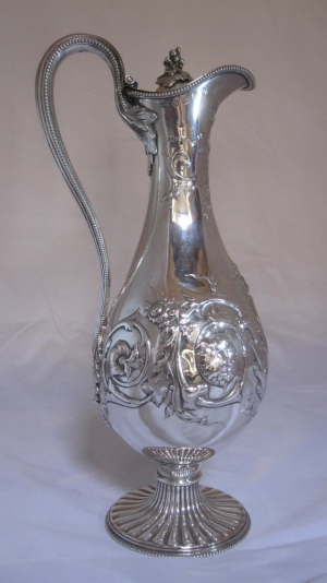 Antique Silver Wine Ewers